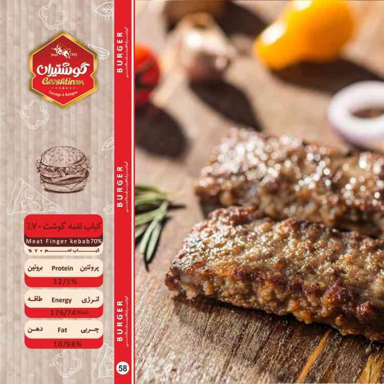 % کباب لقمه گوشت 70 - Meat Finger kebab70%-750-750